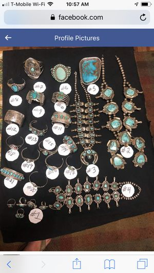 Amazing collection of Navajo, Hopi and Zuni turquoise for Sale in Washington, DC