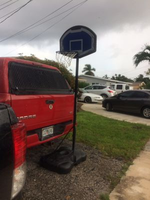 Basketball stand and hoop adjustable for Sale in Plantation, FL