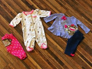 Infant outfit, pj's & pants for Sale in Peyton, CO