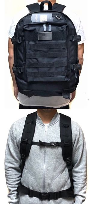 Brand NEW! Black Tactical Molle Backpack For Everyday Use/Work/Traveling/Biking/Hiking/Outdoors/Gifts $20 for Sale in Torrance, CA