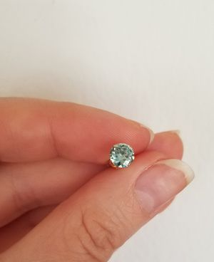 New 1/2ct blue single stud moissanite earring,14k yellow gold for Sale in Bloomfield Hills, MI