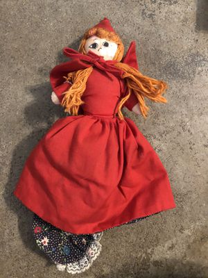 """Rare Flip Doll Vintage 3 in 1 Little Red Riding Hood Grandma Wolf 8"""" Vintage antique Conditions Conditions in the pictures for Sale in San Bernardino, CA"""