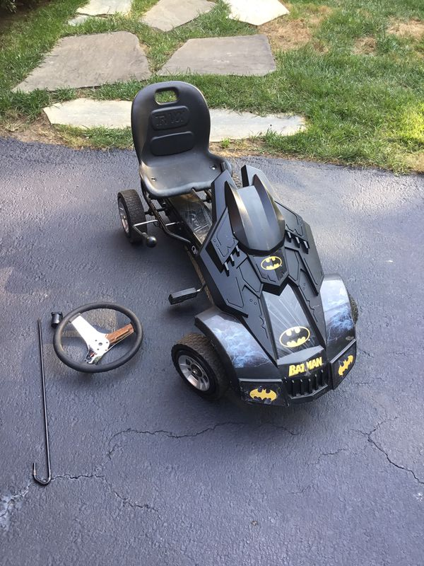 Batman peddle cart - needs new steering column and wheel - MAKE OFFER