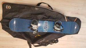 Ride liquid snowboard with bindings and bag. Snowboard is a 56inch $150 Or best offer for Sale in Yorba Linda, CA