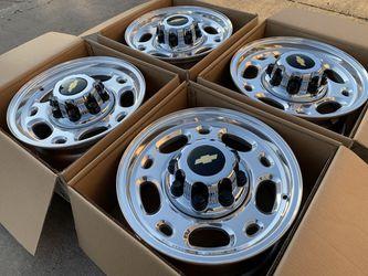 "16"" Chevy Silverado 2500 3500 Wheels 8x6.5 GMC Sierra Savana Express for Sale in Rio Linda,  CA"