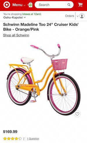 "NEW Schwinn Madeline Too 24"" Cruiser Kids' Bike - Orange/Pink still in the box for Sale in Chula Vista, CA"