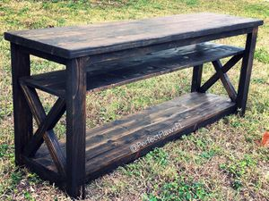 Rustic farmhouse style tv console tables for Sale in Queen Creek, AZ