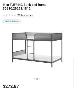Ikea grey bunk bed with 2 mattresses for Sale in Tracy, CA