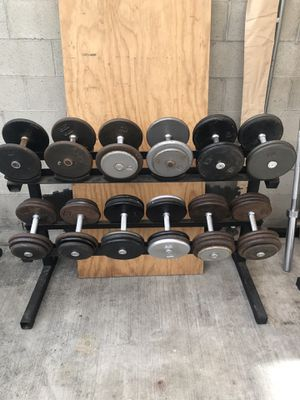 Dumbbells weight set and stand. for Sale in Rosemead, CA
