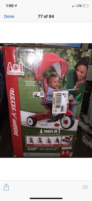 Radio Flyer 4-in-1 Stroll 'N Trike for Sale in South Gate, CA