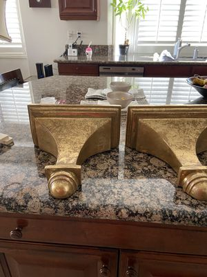 Two Gold Wall Shelves for Sale in Etiwanda, CA