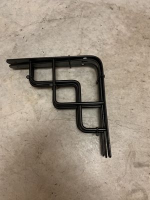 3 Black Art Deco Wall Mounts for Wall Shelves (last picture is an example of them attached to a wall shelf to give you an idea) for Sale in Royal Palm Beach, FL