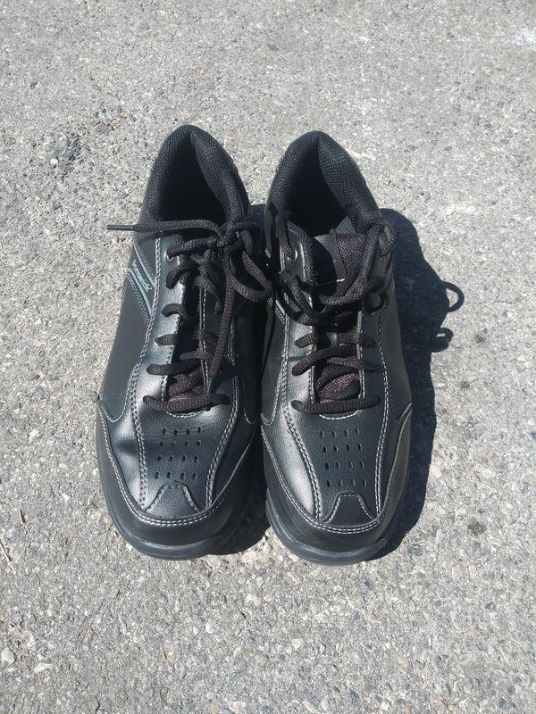 Brunswick Black Leather Bowling Shoes Mens 7