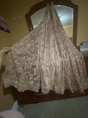 Rose gold glittered prom dress for Sale in Dearborn, MI