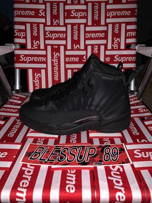 Jordan 12 Retro Winter ❄️ 🥶 Black for Sale in Los Angeles, CA