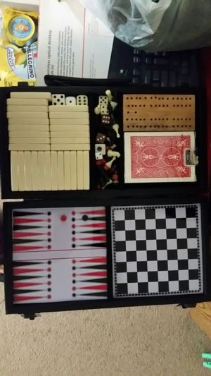 Game board with dominion and chess combo for Sale in Falls Church, VA