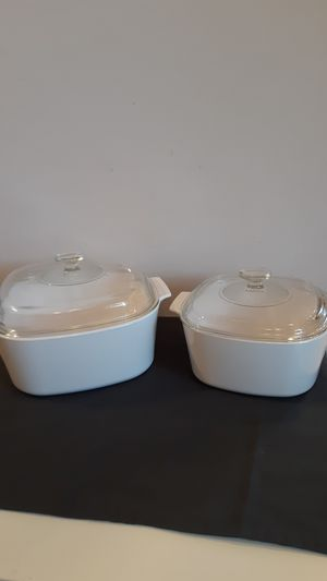 Set of square Pyrex CorningWare casserole dishes, see details below for Sale in Sunrise, FL