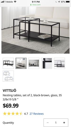 Nesting Tables set (2)/ Living room table for Sale in Sunnyvale, CA