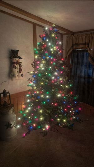 Artificial tree with led lights for Sale in Follansbee, WV