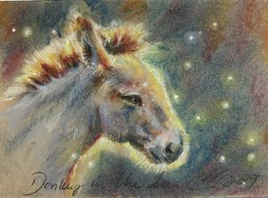 ACEO Original painting Donkey Equestrian pastel artwork direct from artist for Sale in Henderson, NV