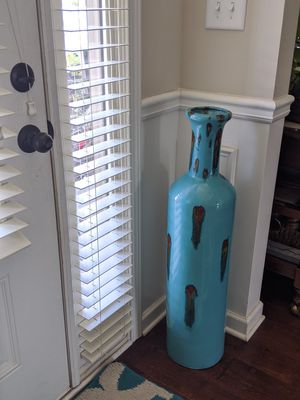 Tall Teal Heavyweight Vase for Sale in Greer, SC