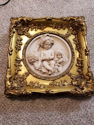 Beautiful 1860's Hand Carved Marble Sculpture of three Children for Sale in Rockville, MD