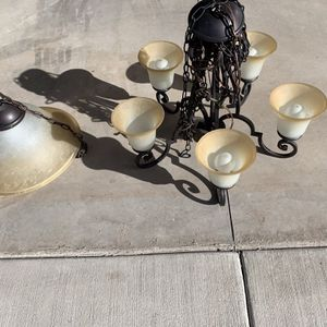 """Beautiful Hanging Lights. One Is 26"""" and the other Is 18"""". Asking $100 for both, or $65.00 for the 26"""" and $55.00 for 18"""". for Sale in Whiteriver, AZ"""