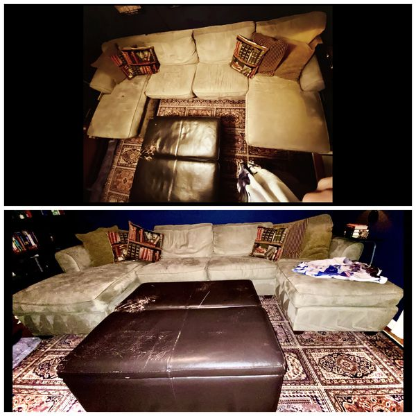 FreeeeSectional With Pull Out Sleeper Sofa & Ottoman With Storage