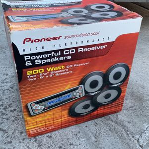 Pioneer stereo system to 6 1/2 and six by nines factory sealed for Sale in Tracy, CA