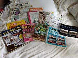 Adult coloring books, and Spot the difference puzzles books. Never been used some from last year but everything is in perfect condition.. for Sale in Vinton, VA