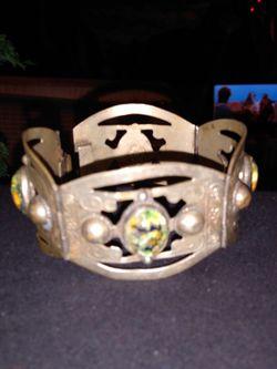 Vintage Silver Link Fire Opal Bracelet for Sale in Pensacola,  FL