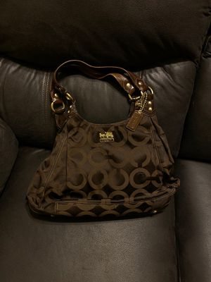 Brown Coach Bag with Dust Ruffle for Sale in Phoenix, AZ