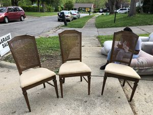 4 Wooden Dining Chairs for Sale in Columbus, OH