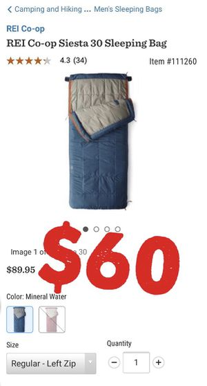 REI Co-op Siesta Sleeping Bag for Sale in Malden, MA