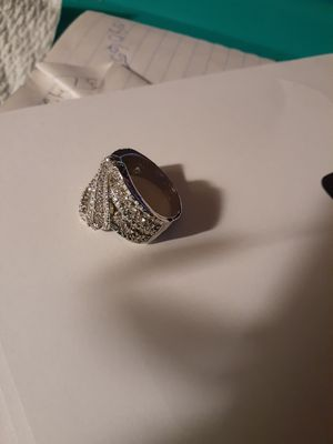 Silver sapphire ring size 9 for Sale in Smyrna, TN