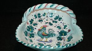 Italian Ceramic basket bowl with handle for Sale in West Palm Beach, FL