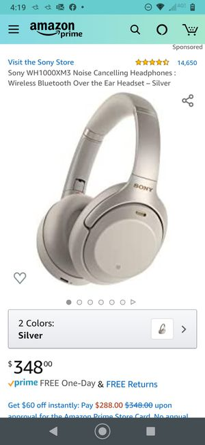 Sony over ear noise cancelling headphones for Sale in Lemoore, CA