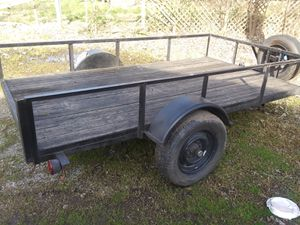 10x5 single axle trailer with title in hand for Sale in Dallas, TX