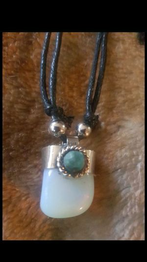 Genuine Moonstone adjustable unisex necklace made in Machu Picchu Peru for Sale in Los Angeles, CA