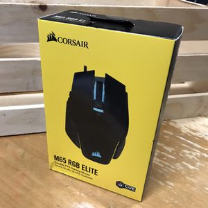 $50 • CORSAIR - M65 RGB Elite Gaming Mouse • Mouse Only for Sale in Los Gatos, CA