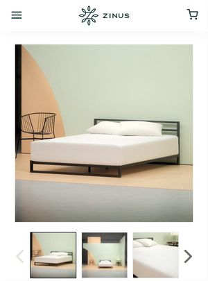 Full bed and frame. Not including the headboard. Originally purchased from Zinus. for Sale in St. Louis, MO