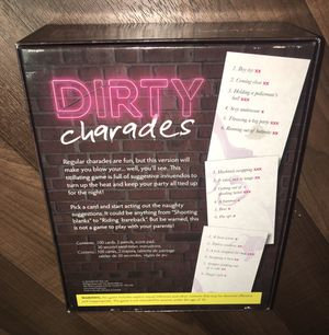 Dirty charades game for Sale in Tacoma, WA