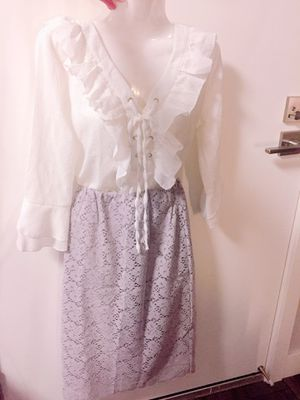 Lovely blouse/Flower pattern H skirt for Sale in Cupertino, CA