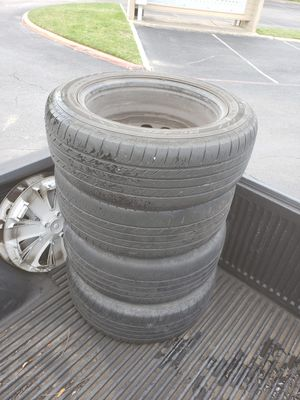 4 Used Tires & Rims 205/55/R16 for Sale in Euless, TX