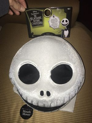 Halloween mask the nightmare before Christmas Tim Burtons for Sale in Littleton, MA