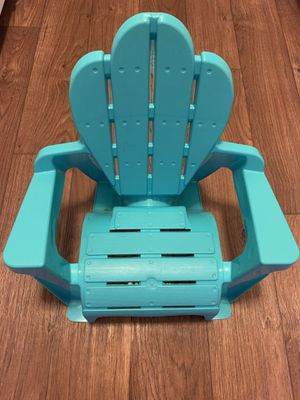 Kids Teal Turquoise Blue Adirondack Plastic Patio Chair for Sale in Lancaster, CA