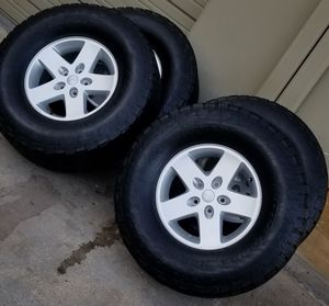 Jeep Wrangler Cherokee Wheels & Tires. 36inch Nito tires for Sale in Arlington, TX