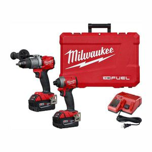 Milwaukee FUEL 18-Volt Lithium-Ion Brushless Cordless Hammer Drill and Impact Driver Combo Kit (2-Tool) with Two 5Ah Batteries for Sale in Stickney, IL