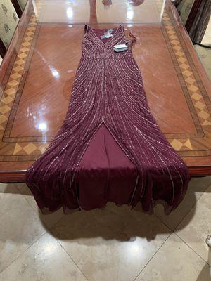 ADRIANNA PAPELL Breaded long dress US 4M for Sale in La Cañada Flintridge, CA