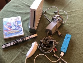 Nintendo Wii with Chords, Controller, Sensor Bar, HDMI Cable, & Mario and Sonic Game for Sale in Charlottesville,  VA